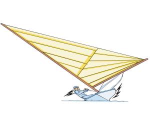 Sailing, a sport competition with sailboat Game