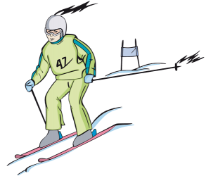 Slalom, technical competition of alpine skiing Game
