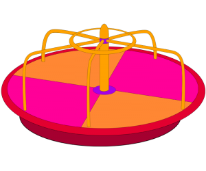 Small merry-go-round, rotating game Game