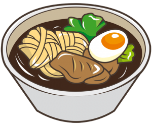 Tamago Udon, Japanese soup with egg and noodles Game