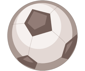 The ball, essential for playing soccer Game