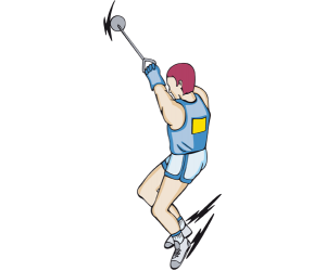 The execution of a hammer throw Game