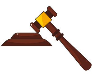 The gavel, the judge's hammer Game