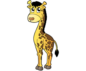 The giraffe, animal with a very long neck Game