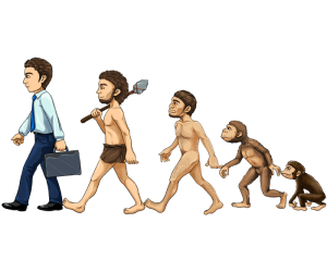 The human evolution in five stages Game