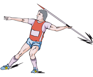 The javelin throw, an athletic discipline Game