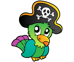 The parrot of pirates with a hat Game