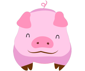 The pig, twelfth animal of Chinese horoscope Game