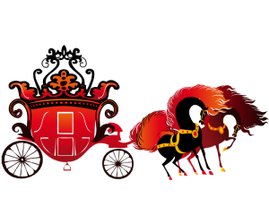 The royal carriage with the horses Game