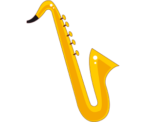The sax, the saxophone, a woodwind instrument Game