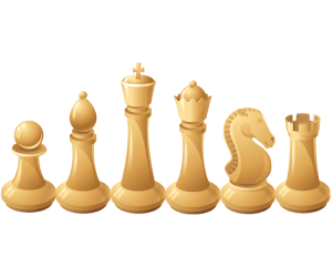 The six types of chess's white pieces Game