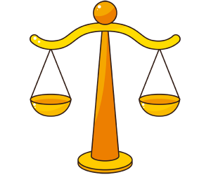 The symbol of justice, a classical balance scale Game