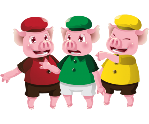 The three little pigs, three brothers pigs Game