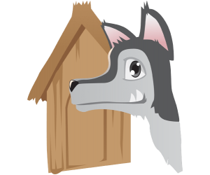 The wolf achieves to destroy the wooden house Game