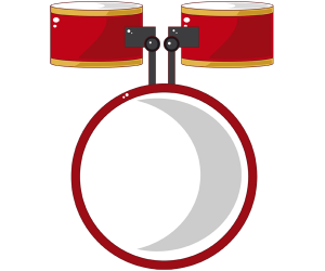 Three drums of a drum set Game