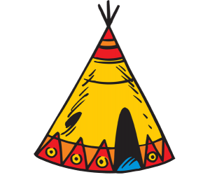 Tipi, typical conical tent of the American Indians Game