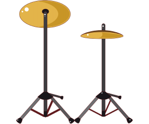 Two cymbals, percussion instruments Game