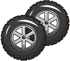 Tyres for the race car Game