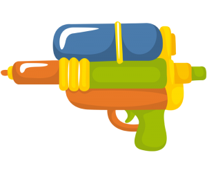 Water gun, a water toy Game
