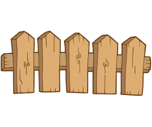 Wooden fence to close a garden Game